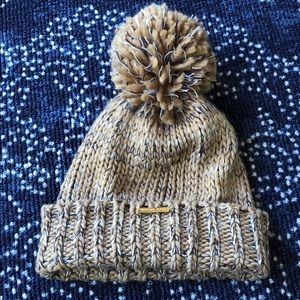 Michael Kors beanie with puff ball and logo